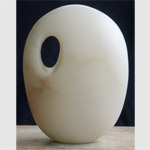 Abstract sculpture in alabaster