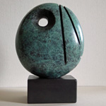 Divided Form 7 abstact bronze sculpture