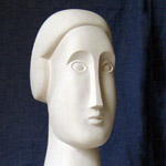 Lucia III, carved from  Portland stone